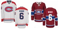 Wholesale Nhl Jersey Cheap - Montreal Canadiens 6 Shea Weber Authentic Home Red White NHL Hockey Jersey Cheap