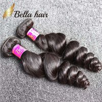 ingrosso tessuti ondulati da 18 pollici-8 ~ 30 pollici capelli malesi di colore naturale tesse l'onda sciolta ondulata libera di trama dei capelli umani di 3 pacchi Bella