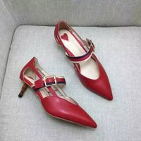 Wholesale Stiletto Heel Mary Jane - Letu126 Office Lady Mary Jane Buckle Strap Bamboo Shaped Heel Party Dress Shoes High Heels Women Shoes Genuine Leather Pump Sz 35-39