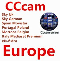 Wholesale Premium Av - CCcam 1-Year code with AV cable support Sky Uk Mediaset Premium Sky German Spain Movistar Portagal Poland Belgium