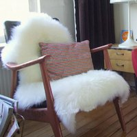 Wholesale 600mmx900mm Hairy Carpet Sheepskin Chair Cover Soft Bedroom Faux Mat Fluffy Area Rugs Bedroom Mat