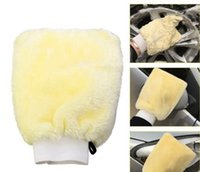 Wholesale Microfiber Mitt Car Auto Wash Mitten Washing Cleaning Glove Shampoo Duster Brush