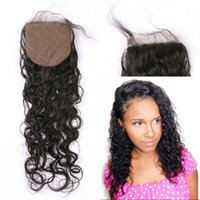 Wholesale vietnamese silk - Peruvian Silk Base Closure Water Wave Brazilian Malaysian Mongolian Indian Vietnamese Human Hair Closures 8-22 inch FDSHINE