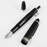 Wholesale Stainless Steel Fountain Pen Nib - MT-149 MT mountain pen black resin 149 turning cap Luxury Pen White Solitaire Classique office mb pens 14k 4810 nib