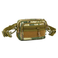 Tactical Camouflage Fanny Pack Molle Military Survival Gear Waist Bag Pequeno Ourdoor Crossbody Single Shoulder Bum Hip Bag para homens