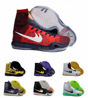 2016 New Arrival Wholesale Basketball Shoes Homens Kobe 10 X High Cut Sneakers de alta qualidade baratos Hot Sale Outdoor Sports Shoes Tamanho 41-46