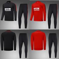 Wholesale Xxl Size Suits - AAA+quality 17 18 Atletico jacket Training suit kits Jersey 2017 GRIEZMANN F TORRES KOKE SAUL CARRASCO Madrid Training suit SIZE S-3XL