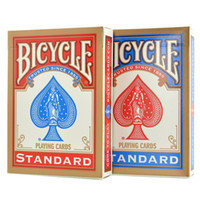 Wholesale Decks Bicycles - 2 pcs Red and Blue Classic Version Sealed Standard Bicycle Poker Playing Cards Standard Decks Magic Trick Free Shipping
