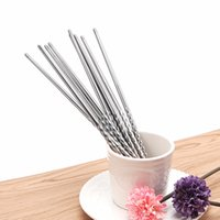 Wholesale Reusable Chopsticks - Wholesale- 5 Pairs Stainless Steel Traditional Chinese Sliver Chopsticks Reusable Tableware