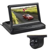 câblage de caméra de vue arrière achat en gros de-Filaire 5 pouces Vue Arrière Moniteur Voiture Moniteur Étanche HD CCD Vue Arrière Voiture Caméra Parking Système Kit