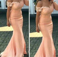 Wholesale royal groups - 2017 mermaid sexy applique lace bridesmaid dresses sweetheart neckline sleeveless mop the floor fishtail skirt type group