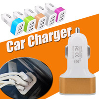Car Charger Mini Traver Adaptador Universal Car Plug Triple 3 puertos USB Cable de carga para iPhone X 8 iPod iPad Samsung S8 Plus S7 S6 Edge