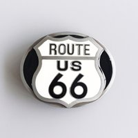 Wholesale Cars Route - New Vintage Enamel Route US 66 Motorcycle Biker Rider Belt Buckle Gurtelschnalle Boucle de ceinture BUCKLE-AT069 Brand New Free Shipping