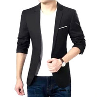 Wholesale Slim Suit Small Men - Spring New Leisure Suits Men Slim Small Suit Coat Boys and Young Men Thin Suit Free Shipping
