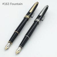 Wholesale Stainless Steel Fountain Pen Nib - Luxury pen classique #163 fountain pen with 4810 Middle size 14K golden nib classique meister-stuck fountain pen supply