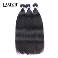 Wholesale remy human hair soft resale online - UNPROCESSED Brazilian Peruvian Malaysian Indian Cambodian Mongolian Virgin Human Hair Weaves Bundles Straight Soft Full Remy Hair Extensions