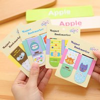 Wholesale pack Kawaii Cute Cartoon Animal Paradise Magnetic Bookmarks Books Marker of Page School Office Supplies Korean Stationery