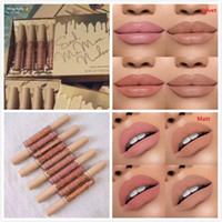 Wholesale Hot Setting - Newest Hot Kylie Jenner Send Me More Nude 4pcs Set Nude Liquid Lipstick 4 Color Matte and Velvet Lipgloss By Kylie Cosmetics free Shipping