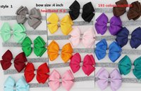 """Wholesale Handmade Headbands For Girls - 8style available ! 20Pcs  4"""" Rhinestone Hair Bow For Kids,Handmade Bling Bow With Clip For Girls,Pinwheel Bow With Rhinestone 12pcs"""