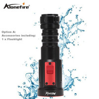 AloneFire DV36 Waterproof 2000Lumens CREE XM-L2 LED 26650 Lanterna de mergulho L2 UnderWater Depth Bright LED Light