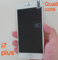 Wholesale Cheap Android 5mp Phone - Cheap Goophone i7 plus 5.5 inch Quad Core Smart phone Android 6.0 1GB+16GB 8mp+5mp Show 4G Lte 64bit 4gb Ram 128GB ROM Octa Core cellphones