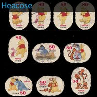 Wholesale Postage Labels - Wholesale- 10PCS set , Used Japanese cute Cartoon Postage Stamps With Postmark , Japan brands label For Collecting