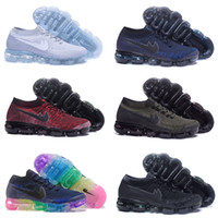 Wholesale Shoe Lining Pu - High quality 2018 Air Men Women Running Shoes Cushion Surface Breathable Fly line Sports shoes Vapormax Sneakers size 5.5-11 Free shipping