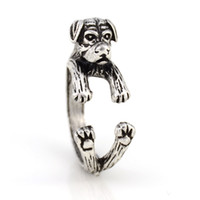 Retro Style Vintage 3 colori Rottweiler Dog Ring Anel Cool knuckle Anelli per gioielli da uomo donna Best Friend Punk regalo