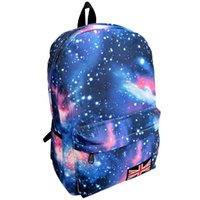 Wholesale Galaxy Pattern Backpack - Wholesale- Unisex Backpack Galaxy Pattern Canvas Zipper Leisure Travel Backpack Large Capacity Shoulder Bags Rugzak School #7202