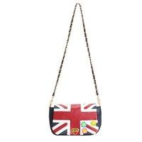 Wholesale Messenger Bags Uk - Wholesale-2016 New Fashion Women's British Style Union Jack UK Flag Leather Handbag Shoulder Bag in Stock Vintage Messenger Bag