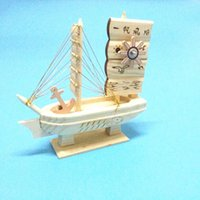 Wholesale Boat Money - The boat shaped music box simple wooden windmill desk furnishings decorative ornaments student gift sailing