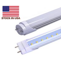 Wholesale Milky Tube - US Stock + T8 LED Tube Lights 4ft 22W SMD2835 AC85-265V Clear Milky Cover Cool White 6000K 2 Years Warranty