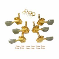 Wholesale Deluxe Tuning Pegs - 1Set Gold Deluxe Guitar Tuning Pegs Guitar Parts & Accessories Tuners Green Button For Guitar Keys Machine Heads