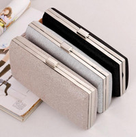 Woman Evening Bag Mulheres Diamond Rhinestone Embreagem Crystal Day Clutch Wallet Casamento Purse Party Banquet Preto / Ouro Prata