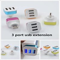 Wholesale Charger For Pc Computer - High Speed 3Port Mini USB 2.0 HUB For Laptop PC Computer Peripherals accessories USB Hubs charger cable Adapter with retail package