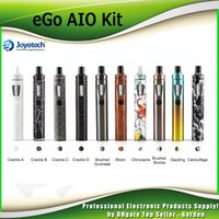 Wholesale Ego New Style Battery - Original Joyetech eGo AIO Starter Kit New Color All-In-ONE Style Authentic 2ml 1500mah Battery Adjustment of Air Inflow 100% Genuine DHL