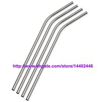 """Wholesale Drunk Party - DHL Free shipping 500pcs lot Stainless Steel Straw Steel Drinking Straws 8.5"""" 10g Reusable ECO Metal Drinking Straw Bar Drinks Party Stag"""