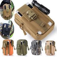 militärische brieftaschen großhandel-Universal Outdoor Military Taktische Holster Molle Hüftgurt Tasche Brieftasche Tasche Taille Telefon Fall Für iPhone 6 6 s 7 Plus 5 5 s 4 4 s