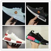 Wholesale Bees Lighting - High quality Boost NMD R1 x bees women men shoes Casual shoes NMD R1 PK bee boost Mesh breathable Black white running shoes