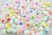 Atacado-barato 10PCS PE Espuma Rose Flower Head Artificial Rose Handmade DIY Decoração para Casa Festiva Party Supplies 2.5cm