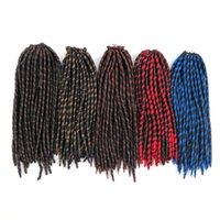 Wholesale ombre bulk braiding hair online - Kanekalon Ombre braiding hair bulk Faux Locs Crochet braids twist hair inch Strands Braiding hair extensions