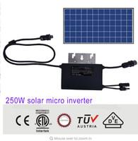 Wholesale Micro Grid Inverter - 250W MPPT solar micro on grid tie inverter DC MC4 20V 60V AC RST 25i3 230V 185V-265V CE VDE SAA TUV ETL IP67