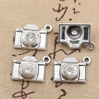 kamera cazibeleri toptan satış-Toptan-10 adet Charms kamera 20 * 16mm Antik charms kolye fit, Vintage Tibet Gümüş, DIY için bilezik kolye