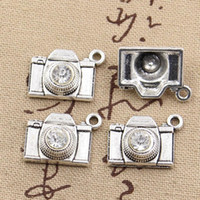 Wholesale 16mm cameras - Wholesale-10pcs Charms camera 20*16mm Antique charms pendant fit,Vintage Tibetan Silver,DIY for bracelet necklace