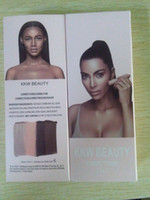 Wholesale Natural Stick Nails - Kylie KKW Highlighters sticks contours Beauty Creme Contour & Highlight Kit Kim Kardashian Wes correttore 2 in 1 Makeup Set Without Brush