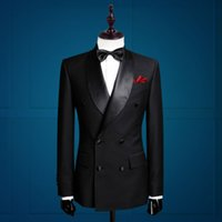 Wholesale New Arrival Groom Tuxedos Double Breasted Groomsman Suit Custom Made Man Suit Tailored Suit Business Suit Jacket pants