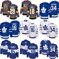 Wholesale Andre Blue - 2018 Youth Men Toronto Maple Leafs 34 Auston Matthews 16 Mitch Marner Oilers Connor McDavid Blue 29 Marc-Andre Fleury 18 James Neal Jersey