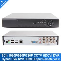 Wholesale Dvr 8ch Real Time - 8 Channel HDCVI DVR Supports 8CH 1080P 720P Real-time Recording Remote View Hybrid NVR HD-CVI CVI For HD CVI Camera Max To 4TB