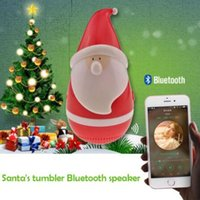 New Arrival Papai Noel Speaker Christmas Father Tumbler Roly-poly Mini Wireless Bluetooth Alto-falantes Kids Christmas Toy CCA7524 30pcs