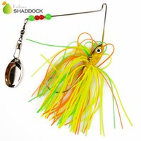 Soft Baits spinnerbait heads - Shaddock Fishing g Mixed Color Fishing Spinnerbait Jig Head Hooks Rubber Skirts Fishing Lures With Blades Beads